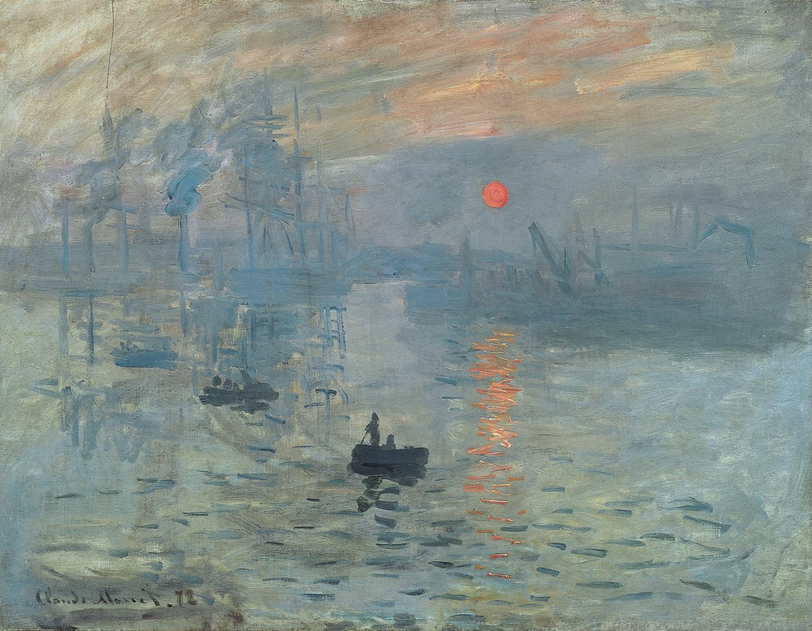 Клод Моне Впечатление. Восход солнца.1872.