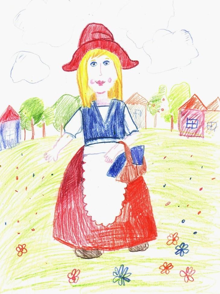 Рисуем Красную Шапочку