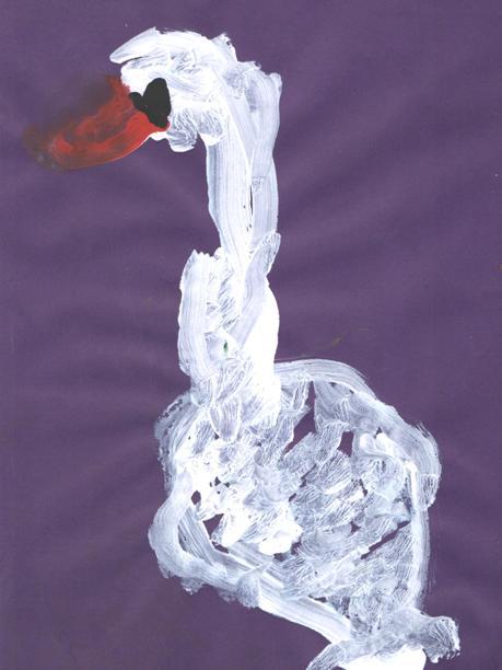 Рисуем лебедя