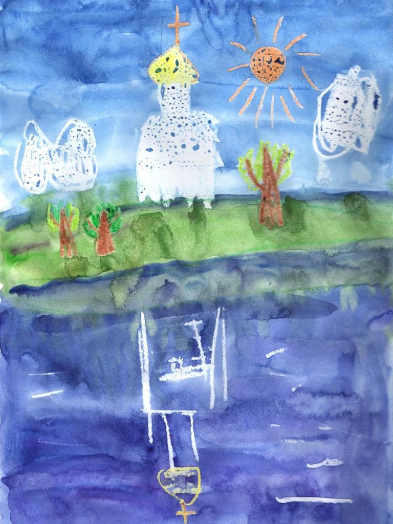 Кто знает, может, рисующий храм ребёнок угождает Богу не меньше взрослых, построивших такой храм.