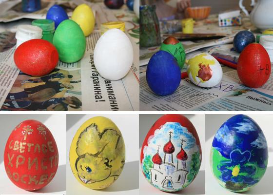 Блестящие яйца у парня